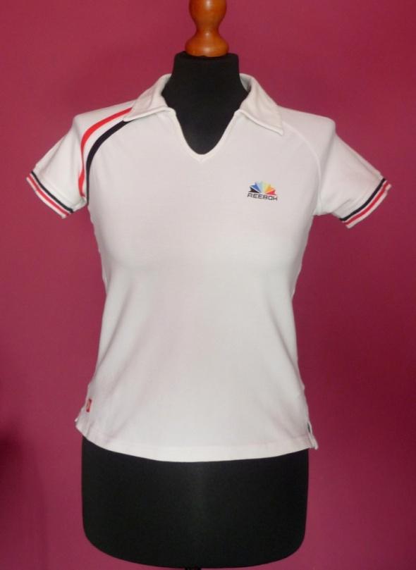 Koszulki Reebok świetna sportowa bluzka kołnierzyk