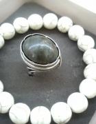 Warmet z jaspisem stary srebrny