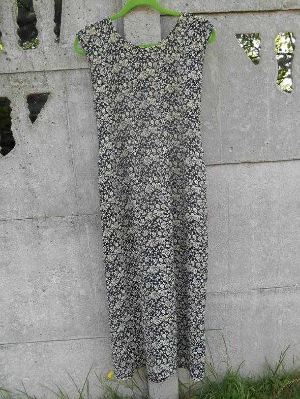 Suknie i sukienki Kwiecista Sukienka L XL długa zwiewna
