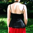Elegancki czarny zwiewny top Perkins 40 L szyfon