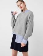 Sweter Mango szary bawełniany oversize S M
