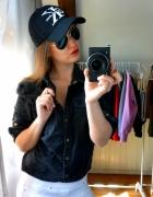 czarna koszula jeans