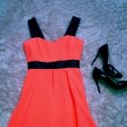 Piękna sukienka neonowy róż wesele inne