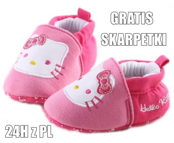 różowe buciki HELLO KITTY paputki 12cm rozmiar 19