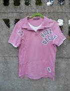 męska koszulka Polo S łososiowa River Island