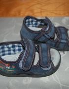 Buty sandałki skórzane wkładki Ren But 12cm