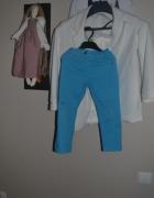Turkusowe spodnie 2 3 lata 92cm 98cm