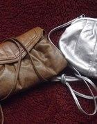 2 torebki brązowa i srebrna