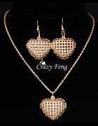 Komplet biżuterii Naszyjnik i Kolczyki SERCE HIT