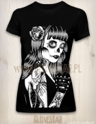 Czarna koszulka Los Muertos GLOVESTAR...