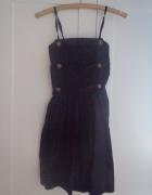 Czarna sukienka na cienkich ramiączkach M