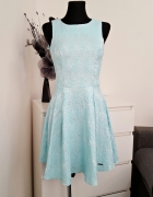 rozkloszowana turkusowa sukienka Kalami exclusive