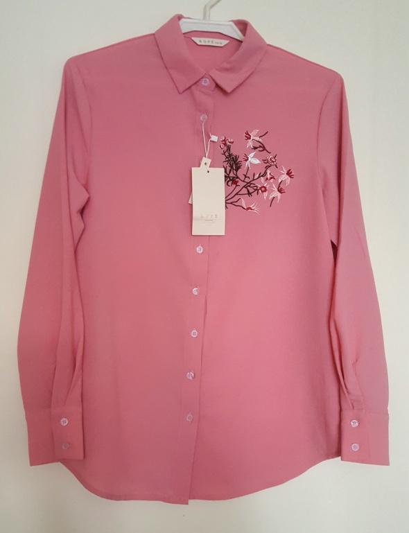 Koszula z kwiatowym haftem rozm M...