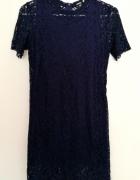 Granatowa koronkowa sukienka SINSAY rozm XS...