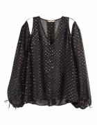 Czarna jedwabna bluzeczka H&M 36 S 38 M