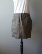 Idealna krótka brązowa spódniczka...
