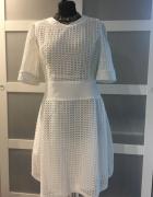 sukienka biała letnia koronkowa...