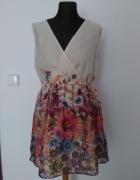 Sukienka Vero Moda Flowers