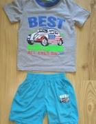 Nowy komplet na lato dla chłopca koszulka spodenki 98 104...