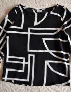 Bluzka geometryczne wzory rozcięcie na plecach S