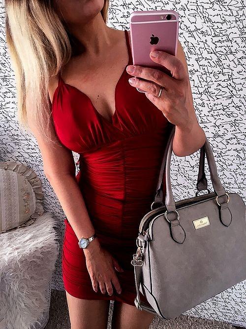 NOWA letnia czerwona sukienka HIT