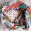 Esprit apaszka chusta wzory ptaki papugi kolorowa...