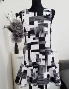 biało czarna sukienka Newly Collection