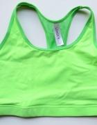 Stanik Zielony Neonowy Lindex M 38 Sportowy Fitness...