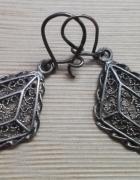 staruteńkie srebrne kolczyki filigranowe srebro