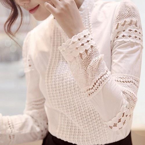 Nowa piękna koszula z koronkowymi wstawkami
