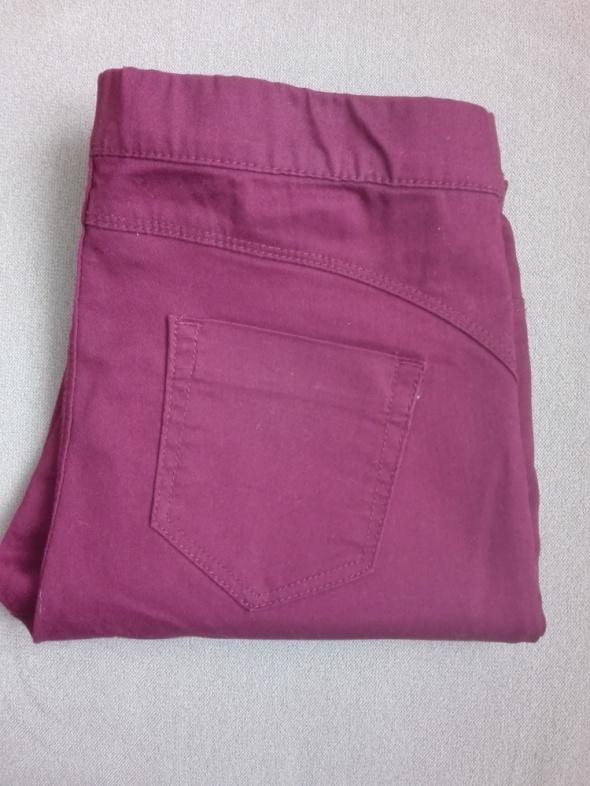 spodnie burgund...