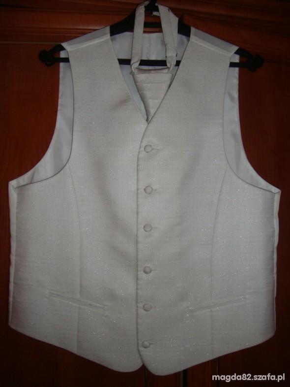 biała kamizelka slubna r52