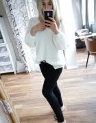 Spodnie czarne hm low waist normalny stan rurki proste