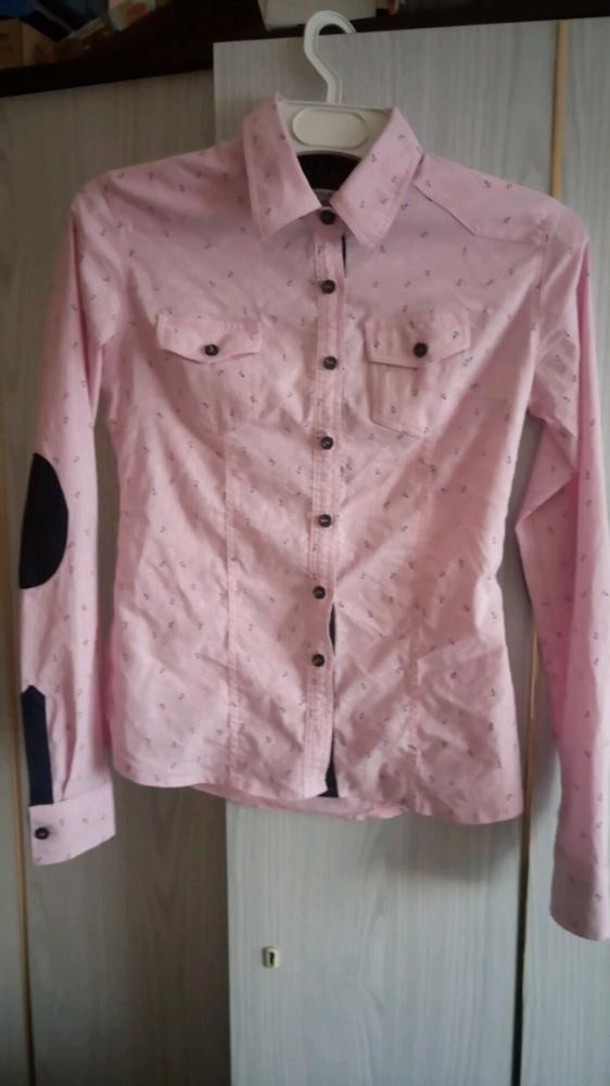 koszula różowa kotwica XS S