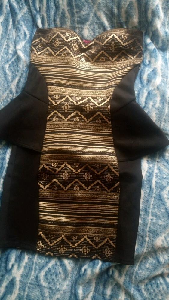 Sukienka aztecki wzór 36 S Sylwester