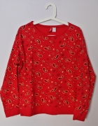 H&M czerwona bluza XS...