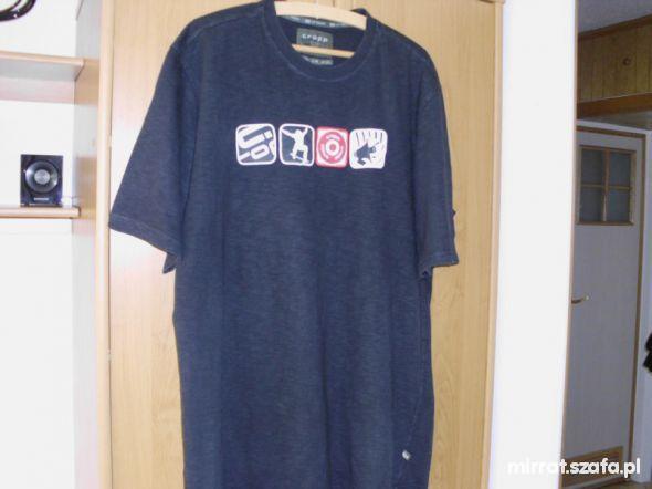 Koszulki i t-shirty Czarna koszulka Cropp