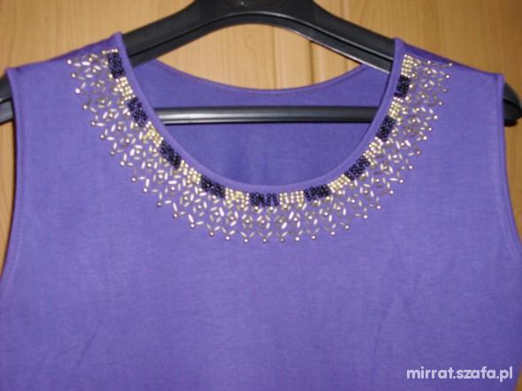 Śliczna fioletowa bluzeczka 40 42