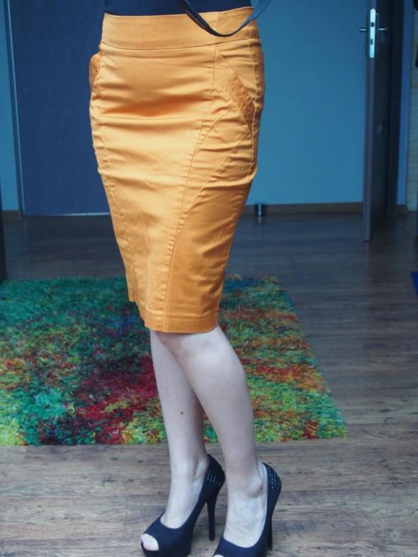 Spódnice Ceglasta pomarańczowa spódnica ołówkowa nowa
