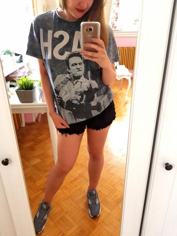 Szara bluzka koszulka Johnny cash L 40