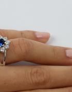Srebrny w kolorze Blue