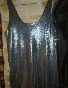 Atmosphere Srebrna cekinowa sukienka...