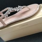 Sandały kryształki cyrkonie Vices pudrowy róż