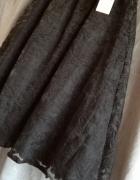 Spódnica koronkowa midi tiulowa Reserved czarna...