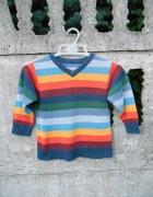 chłopięcy Sweter 92 na 2 latka wizytowy kolorowy