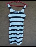 sukienka wpasy paski H&M uniwersalny S M L