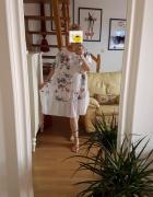 Sukienki letnie bawełniane w kwiaty roz 50 52 54 56