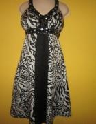 PIĘKNA Sukienka z koralikami i oczkami...