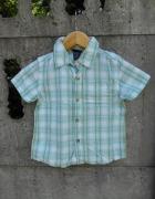 koszula 98 w kratkę na lato zielona na 3 latka...