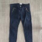 Spodnie cygaretki eleganckie chinosy do kostek z zamkami zamki zip XS